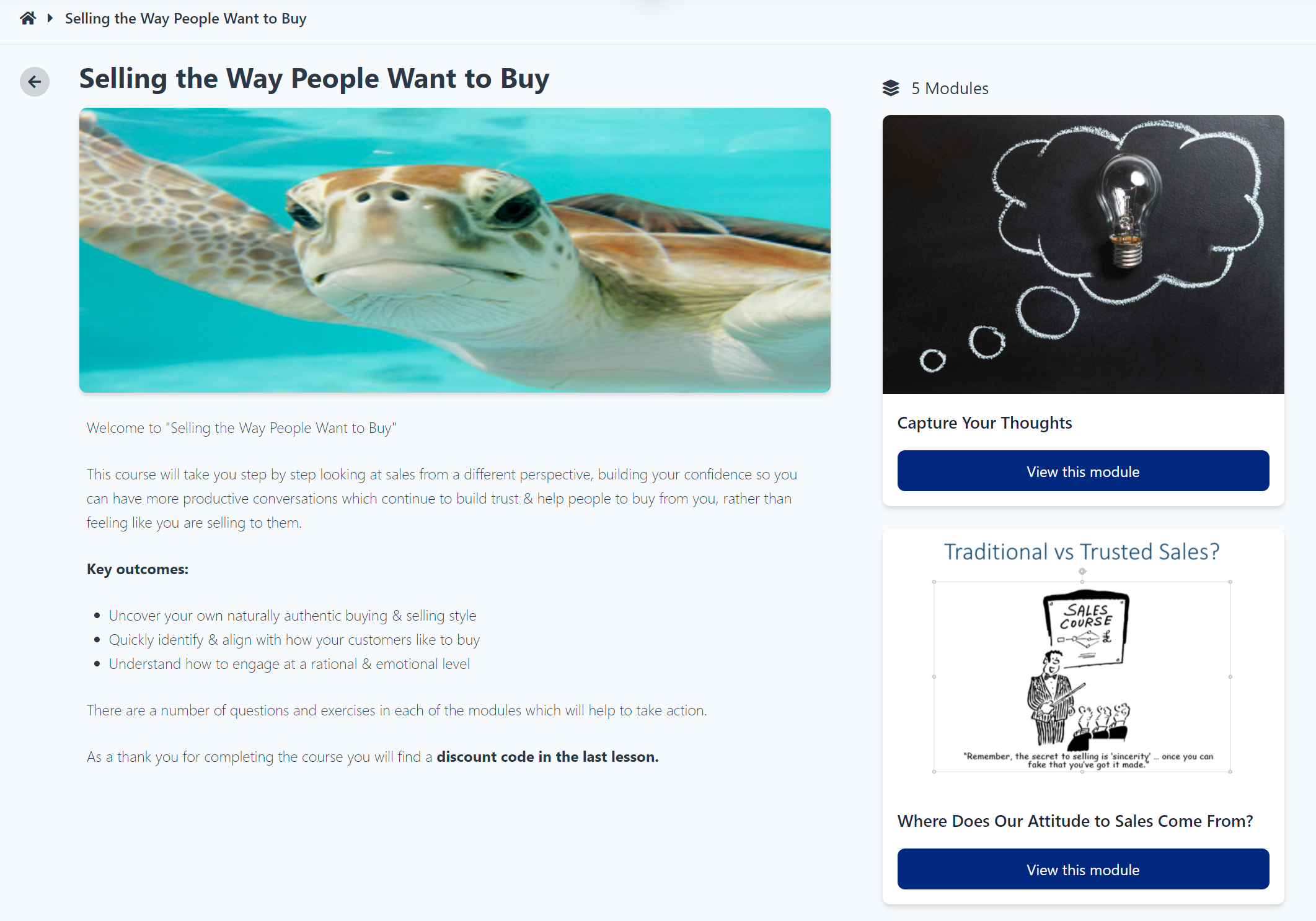 Selling the way people want to buy